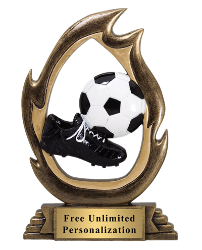 Flame Soccer Trophy