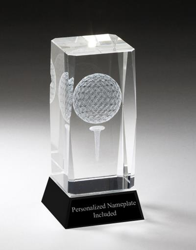 Golf Optical Crystal Award