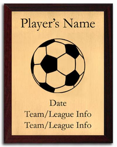 Soccer Silhouette Plaque