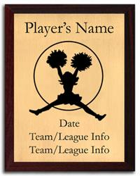Cheerleading Silhouette Plaque