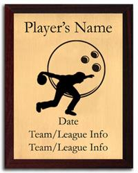Bowling Silhouette Plaque