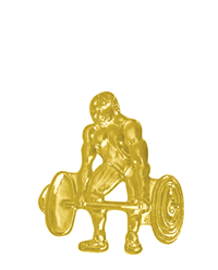 Sports Chenille Pin - Weightlifting