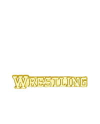 Sports Chenille Pin - Wrestling Text