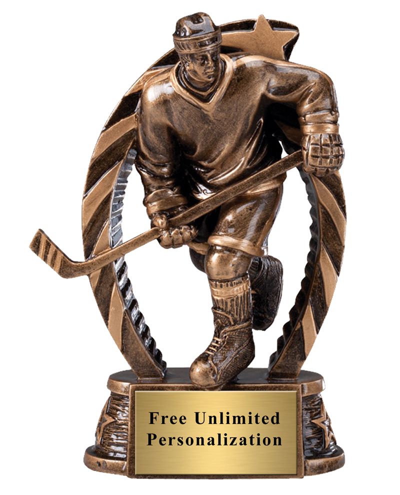 Running Star Hockey Male Trophy