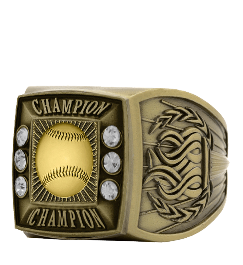 Gold Baseball Championship Ring
