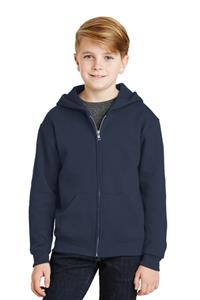 Jerzees NuBlend Youth Full-Zip Hooded Sweatshirt