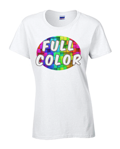 Full Color Gildan Heavy Cotton Ladies T-Shirt
