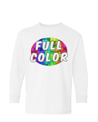 Full Color Gildan Heavy Cotton Youth Long Sleeve T