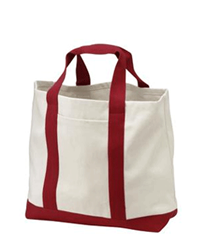 Port & Company Two-Tone Shopping Tote