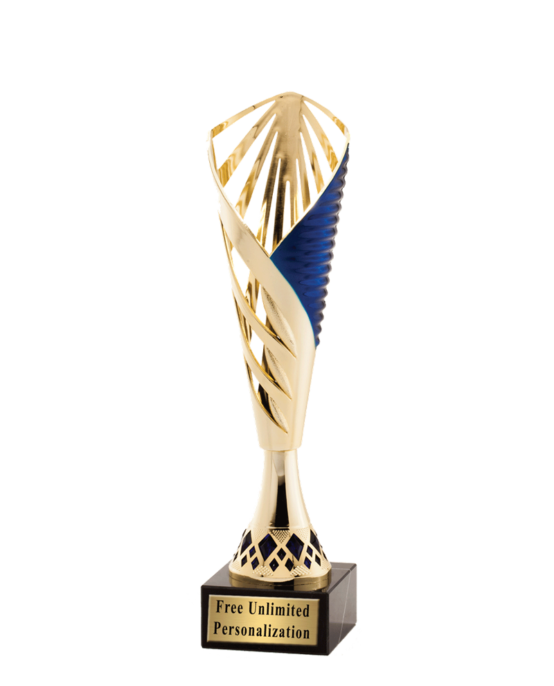 Gold Chalice Cup With Blue Accents