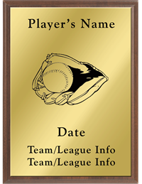 Baseball Silhouette Plaque