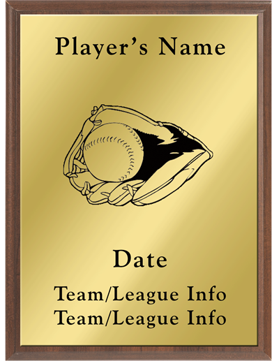 Softball Silhouette Plaque