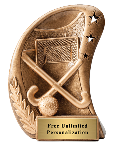 Star Curved Field Hockey Trophy