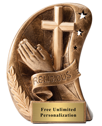 Star Curved Religion Trophy