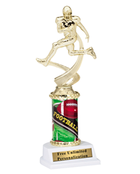 Motion Football Column Trophy
