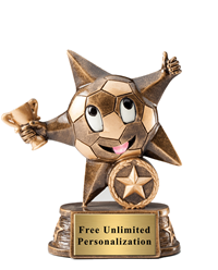 Little Star Soccer Trophy