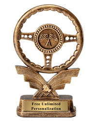 Steering Wheel Racing Trophy