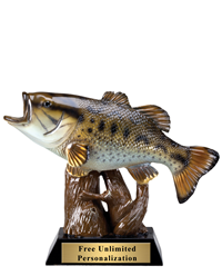 Bass Fishing Resin Trophy