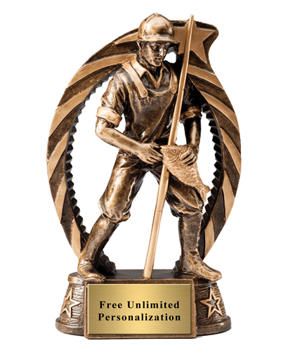 Running Star Fisherman Trophy