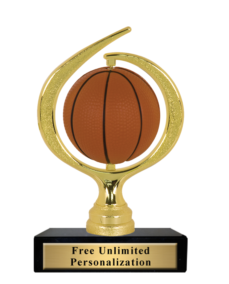 Spiral Sponge Spinner Basketball Trophy