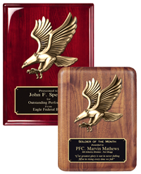 Metal Eagle Mount Plaque