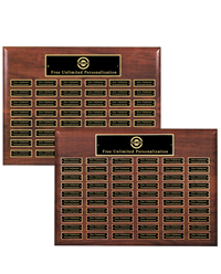 Premium Walnut Legendary Plaque