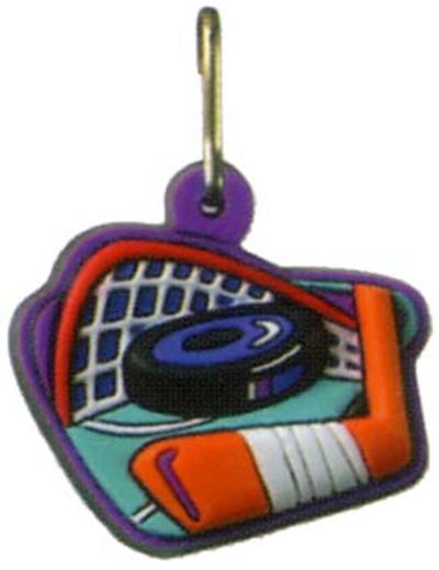 Hockey Zipper Pull