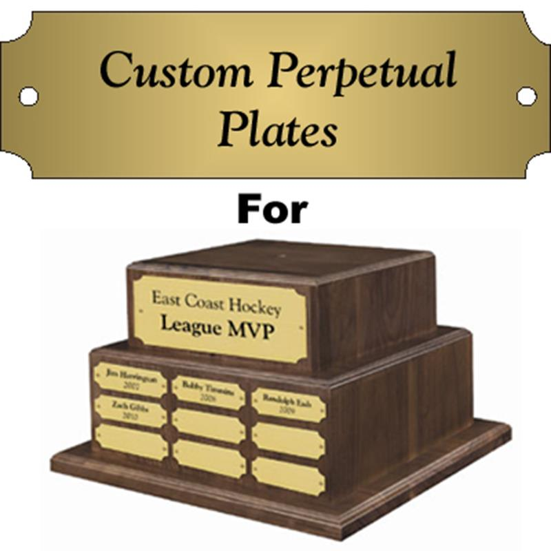 "Satin 7/8"" x 2.5"" Perpetual Base Nameplate"