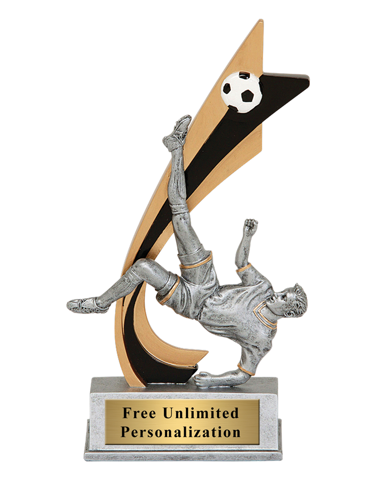Live Action Soccer Trophy - Male
