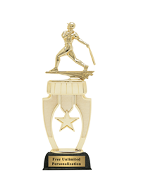 Star Riser Baseball Trophy - Male