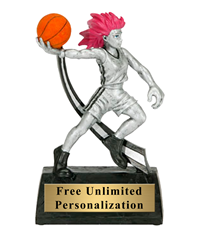 Wild Woman Basketball Trophy