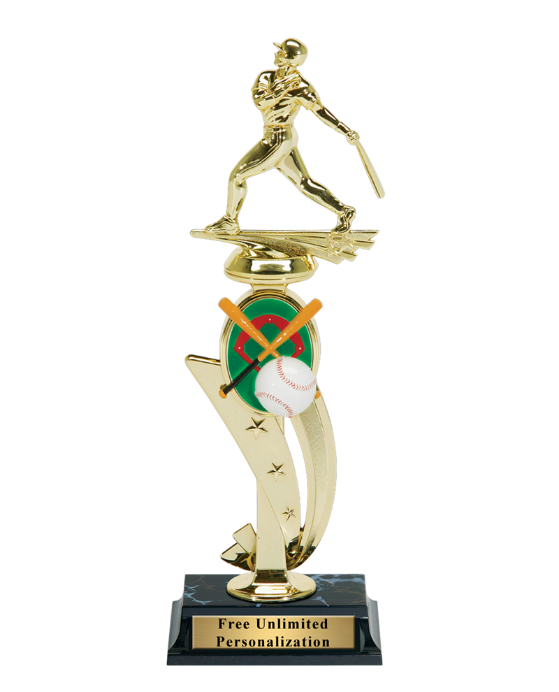 Color Scene Baseball Trophy