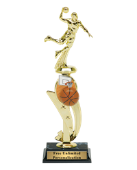 Color Scene Basketball Trophy - Male