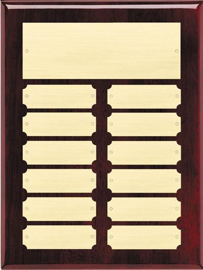 Rosewood Perpetual Name Plaque - Gold