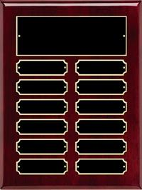 Rosewood Perpetual Name Plaque - Black