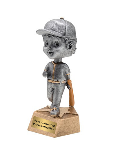 Bobblehead Baseball/Softball Trophy - Female