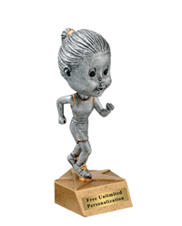 Track Bobblehead Trophy - Female