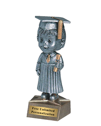 Bobblehead Graduate Trophy - Male