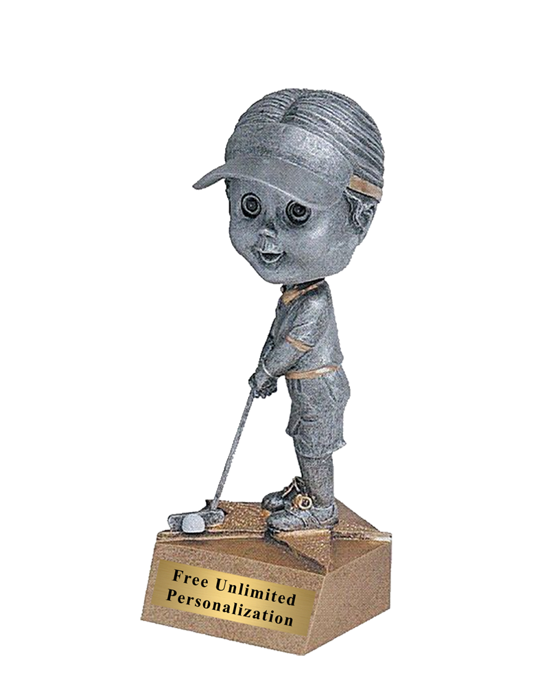 Bobblehead Golf Trophy - Female