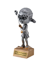 Bobblehead Lacrosse Trophy - Female