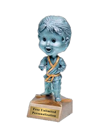 Bobblehead Karate Trophy - Female