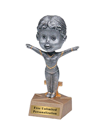 Gymnast Bobblehead Trophy - Female