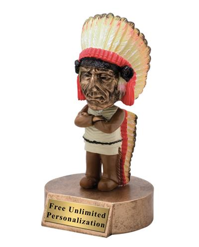 Indian Bobblehead Mascot Trophy