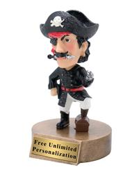 Pirate Bobblehead Mascot Trophy