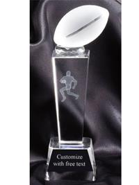 Sports Crystal Football Trophy