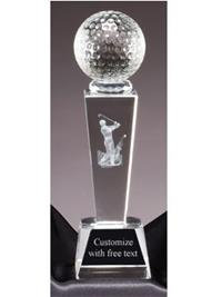 Sports Crystal Golf Award - Male