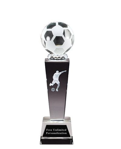 Sports Crystal Soccer Award - Male