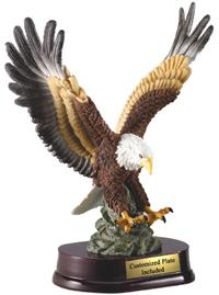 Hand Painted Eagle In Flight Award