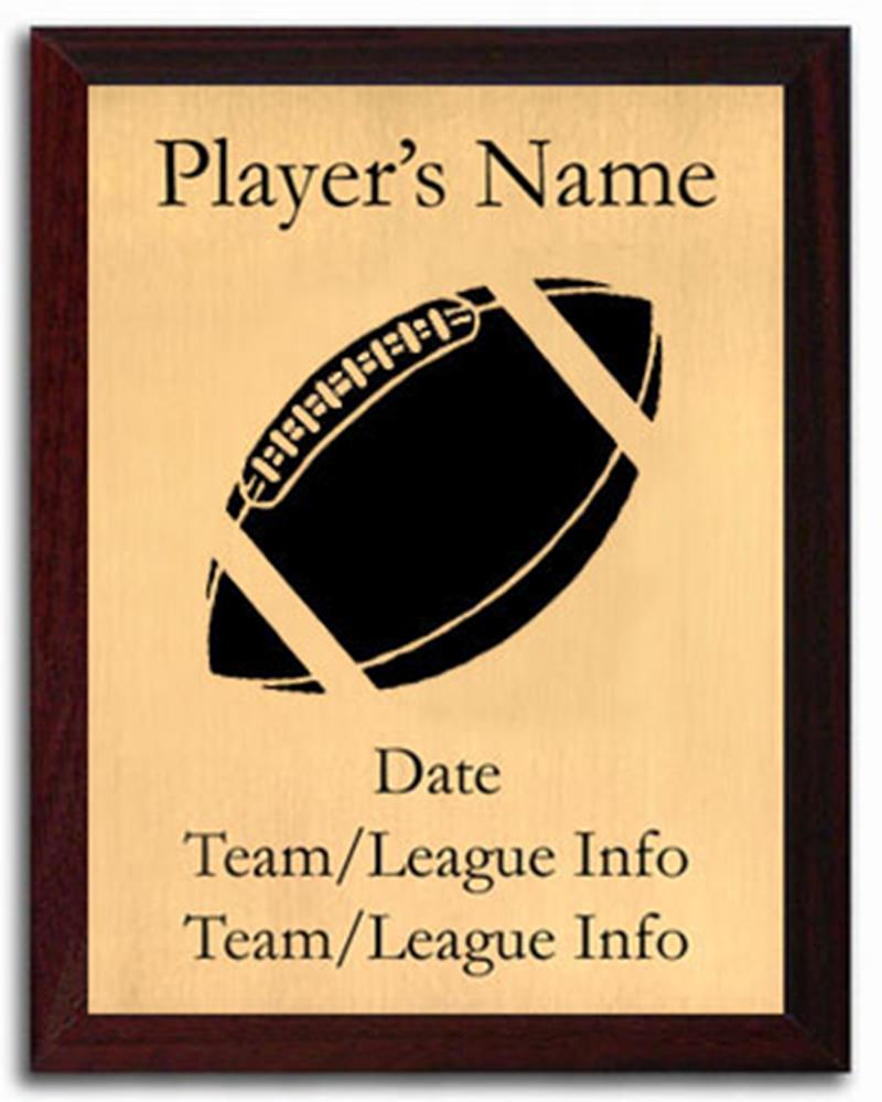 Football Silhouette Plaque