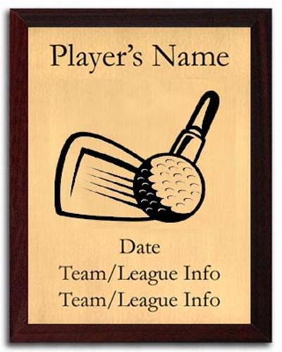 Golf Silhouette Plaque